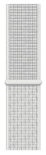 Apple Watch 44 mm Nike sportovní provlékací řemínek, sněhově bílý
