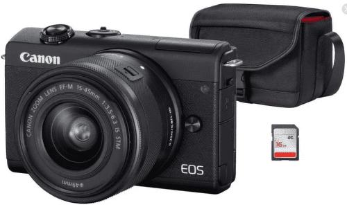 Canon EOS M200 černá Value Up Kit + Canon EF-M 15-45mm IS STM
