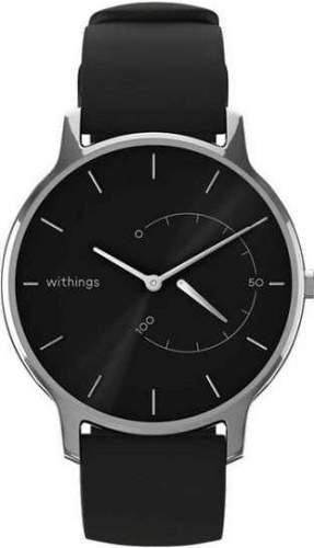 Withings Move Timeless stříbrné s černým řemínkem