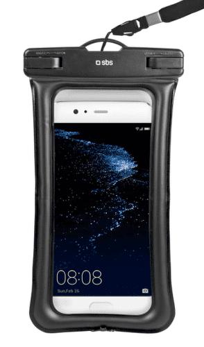 """SBS voděodolné plovoucí pouzdro pro chytré telefony do 5,5"""", černá"""
