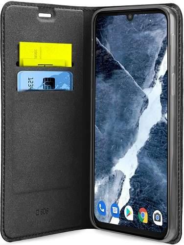 SBS flipové pouzdro pro Motorola Moto Edge Plus, černá