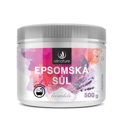Allnature epsomská soľ levandule 500 g