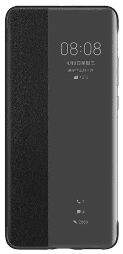Huawei S-View knížkové pouzdro pro Huawei P40 Pro, černá