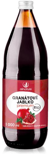Allnature granátové jablko Premium BIO 1000 ml nápoj