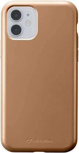 CellularLine Sensation Metallic silikonové pouzdro pro Apple iPhone 11, zlatá