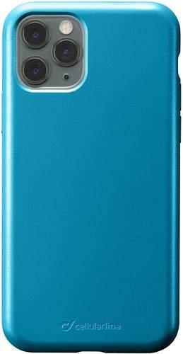 CellularLine Sensation Metallic silikonové pouzdro pro Apple iPhone 11 Pro Max, modrá