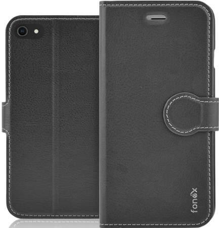 Fonex Identity flipové pouzdro pro Apple iPhone SE 2020/8/7, černá