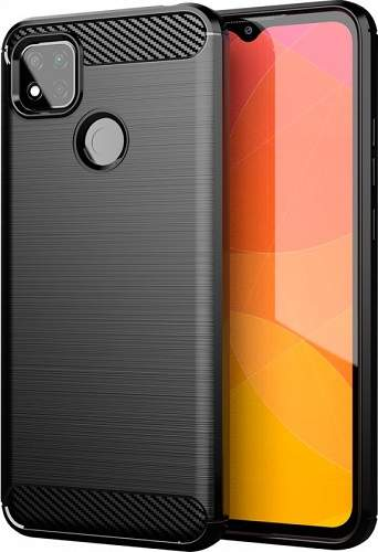 Winner Carbon pouzdro pro Xiaomi Redmi 9c, černá