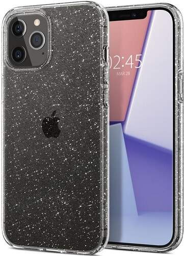 Spigen Liquid Crystal Glitter pouzdro pro Apple iPhone 12 Pro Max transparentní
