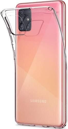 Spingen Liquid Crystal pouzdro pro Samsung Galaxy A51 transparentní