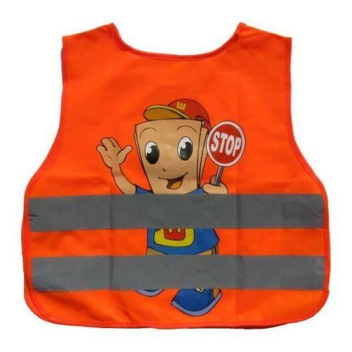 Reflexná vesta detská oranž