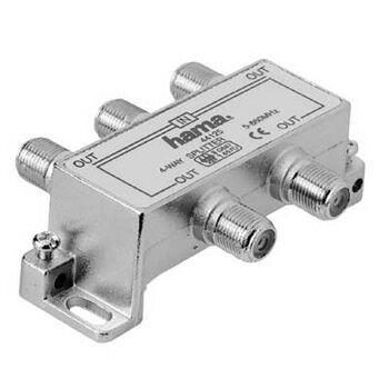 HAMA 44125 4-násobný rozdeľovač pre káblovú TV