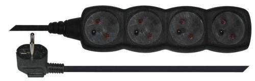 Emos PC0415 - prodlužovačka (černá), 4 zásuvky, 5m