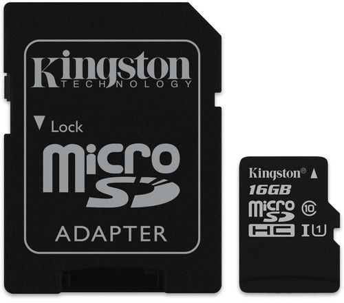 Kingston microSDHC Canvas Select 16GB + SD adaptér