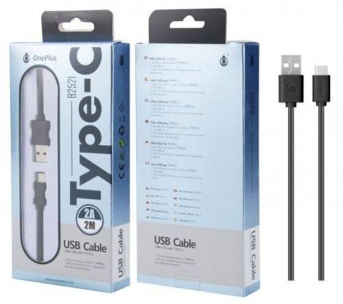 Aligator PLUS B2521 USB-C kabel 2m, černá