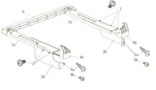 Beko 2977200300 spojovací díl pro pračky s hloubkou do 54 cm