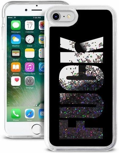 """Puro """"Aqua Fuck"""" zadní kryt pro Apple iPhone 8/7/6 Plus, černá"""