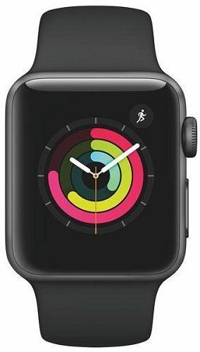Apple Watch Series 3 38mm (vesmírně šedý hliník/černý sportovní řemínek)