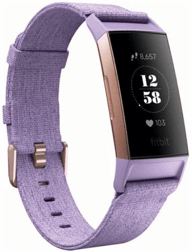 Fitbit Charge 3 Special Edition (NFC) růžovo-zlatý s fialovým řemínkem
