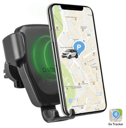 SBS držák do mřížky s GPS a bezdrátovým nabíjením 10W, černá