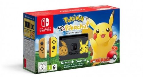 Nintendo Switch + Pokémon: Let's Go Pikachu! + Pokéball Plus
