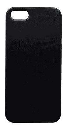 Mobilnet gumové pouzdro pro Apple iPhone SE, 5s a 5, leskle černá