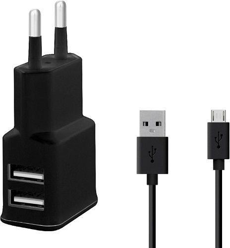Winner síťová nabíječka 2xUSB + kabel Micro USB, černá