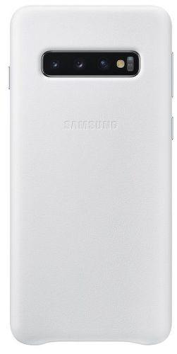 Samsung Leather Cover pro Samsung Galaxy S10+, bílá