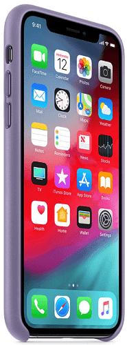 Apple kožený kryt pro iPhone Xs, fialový