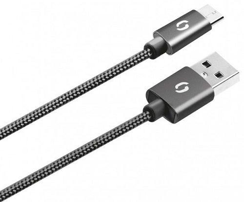 Aligator microUSB datový kabel 1m, černá
