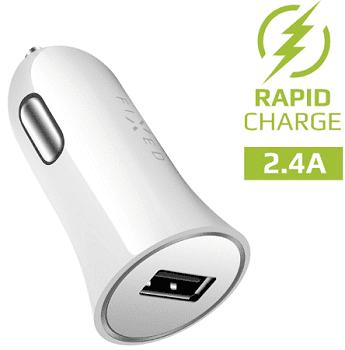 Fixed autonabíječka USB 2,4 A, bílá
