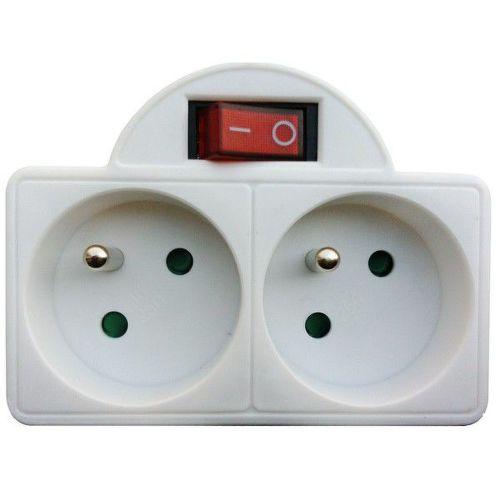 SOLID P97 Rozbočovač, 2 x 10 A, biela, vypínač