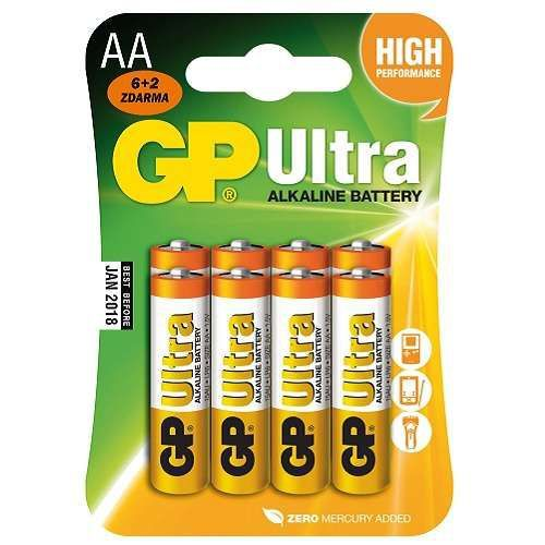 GP Ultra AA LR06, 6+2ks