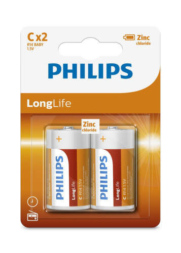 Philips LongLife R14L2B C, 2ks