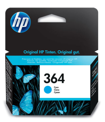 HP CB318EE No.364 cyan - atrament