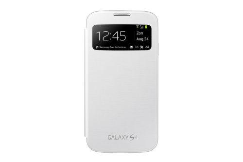 SAMSUNG flipové puzdro s oknom EF-CI950BW pre Galaxy S4 (i9505), white