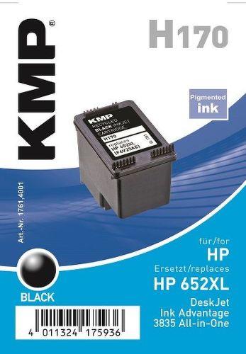 KMP HP 652BK XL, H170 recyk. náplň