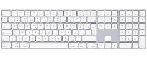 Magic Keyboard s číselnou klávesnicí CZ bílá