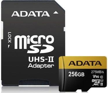 A-DATA microSDXC 256 GB 275 MBS U3 CLASS 10 UHS-II