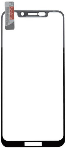QSKLO 2,5D ochranní sklo pro Motorola One Lite, černá