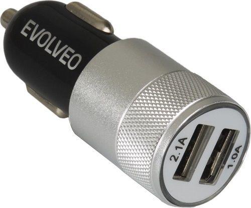 Evolveo MX220 2xUSB autonabíječka, černo-stříbrná