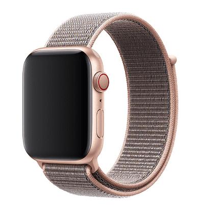 Apple Watch provlékací sportovní řemínek 44 mm, pískově růžová