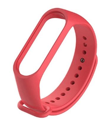 Xiaomi Mi Band 3 a Mi Band 4 řemínek, červená