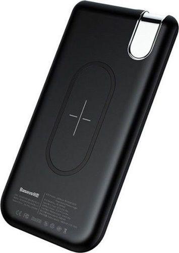 Baseus Thin USB/USB-C bezdrátová powerbanka Qi 10000 mAh, černá