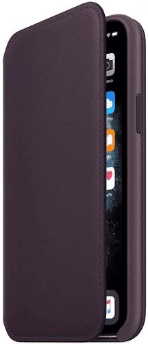 Apple kožené pouzdro Folio pro iPhone 11 Pro Max, fialové