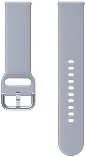 Samsung sportovní řemínek 20 mm pro Samsung Galaxy Watch Active2 stříbrný