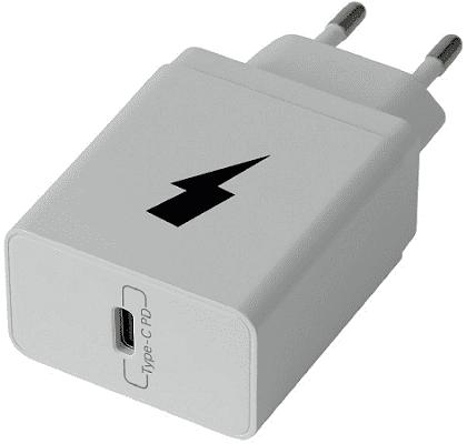 Winner PD USB Type C 18 W síťová nabíječka, bílá