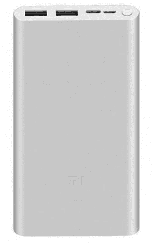 Xiaomi Mi powerbanka 18 W 10 000 mAh, stříbrná