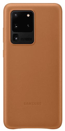 Samsung Leather Cover pro Samsung Galaxy S20 Ultra, hnědá
