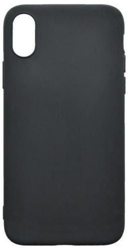 Mobilnet gumový ochranný kryt pro Apple iPhone Xs a X, černá
